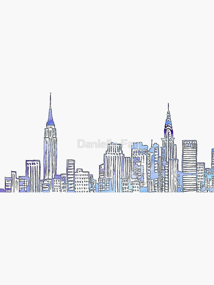 NYC Skyline by doodlesbydani