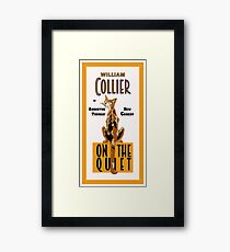 Retro cat, On the Quiet, Comedy advertising Framed Print