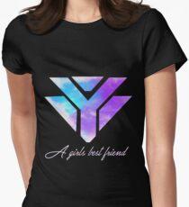 Diamonds are a girls best friend - Galaxy Womens Fitted T-Shirt