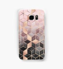 Pink And Grey Gradient Cubes Samsung Galaxy Case/Skin
