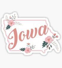 Iowa Floral State Sticker