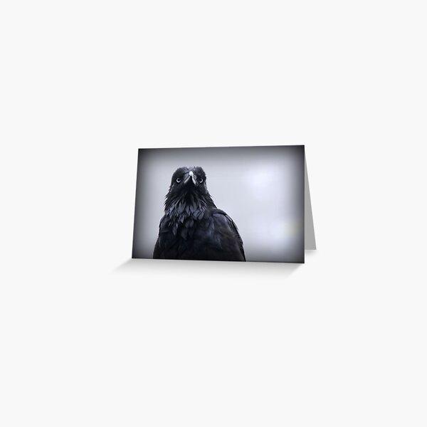 Crow protector Greeting Card