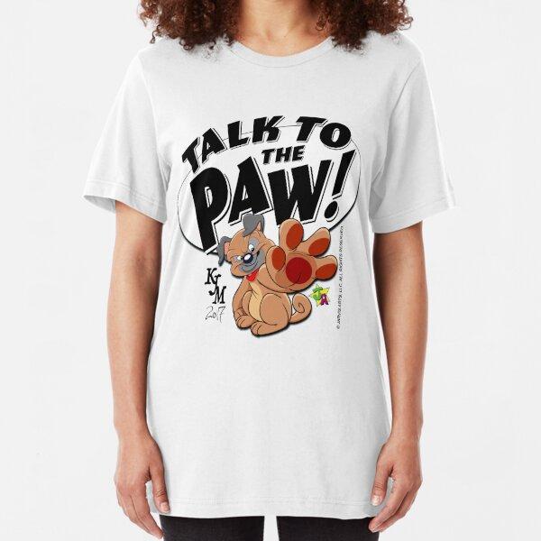 Paw Talking Pug Slim Fit T-Shirt