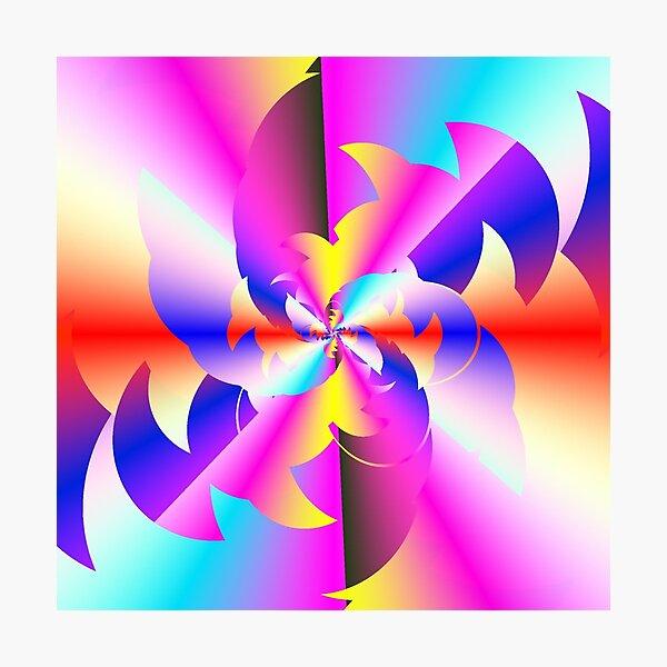 Fractal Rainbow Photographic Print