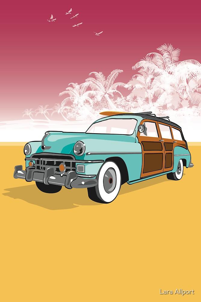 Woodie Surf Car by Lara Allport