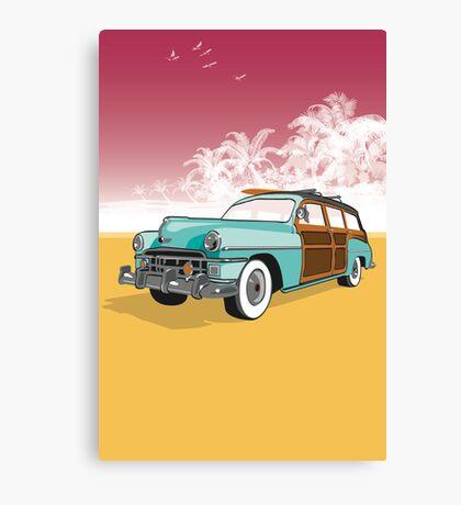 Woodie Surf Car Canvas Print