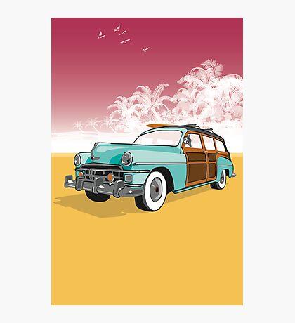 Woodie Surf Car Photographic Print