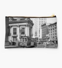 Cable Car in San Francisco during WWII Studio Pouch