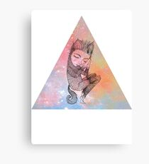 Catskin Nebula Triangle Canvas Print