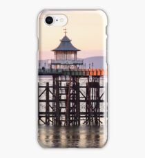 Clevedon pier at sunset iPhone Case/Skin