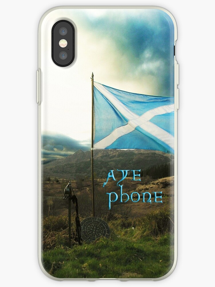 outlet store 9d494 738a0 'the scottish aye phone cover!' iPhone Case by joak