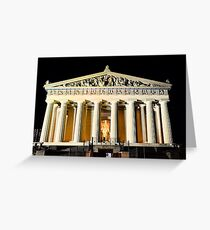 The Parthenon In Nashville Tennessee At Night Greeting Card