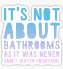 Trans bathrooms Sticker