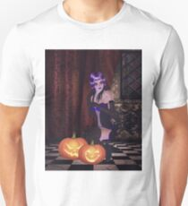 Gothic girl with pumpkins T-Shirt