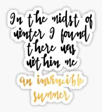 An Invincible Summer Sticker