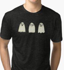 Three Spooky Ghosts Tri-blend T-Shirt