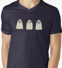 Three Spooky Ghosts Mens V-Neck T-Shirt