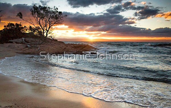 Honeymoon Bay Sunset by Stephanie Johnson