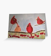 Summer Cardinals Greeting Card