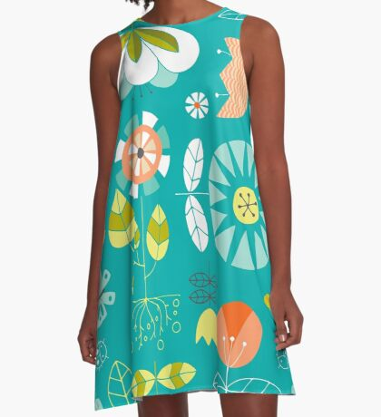 Flower Power A-Line Dress