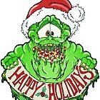 Slimer Christmas by Skree