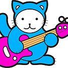 Guitar Kitty by sparklellama