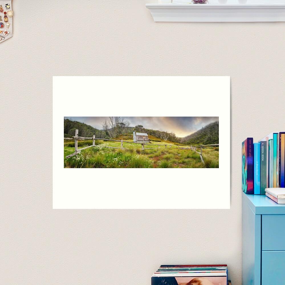 Silver Brumby Hut, Mt Hotham, Victoria, Australia Art Print