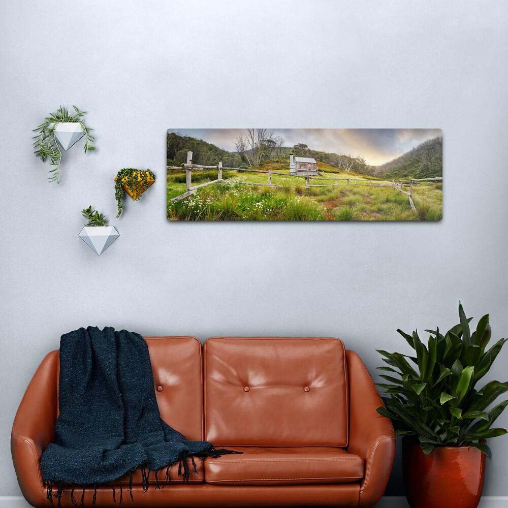 Silver Brumby Hut, Mt Hotham, Victoria, Australia Metal Print