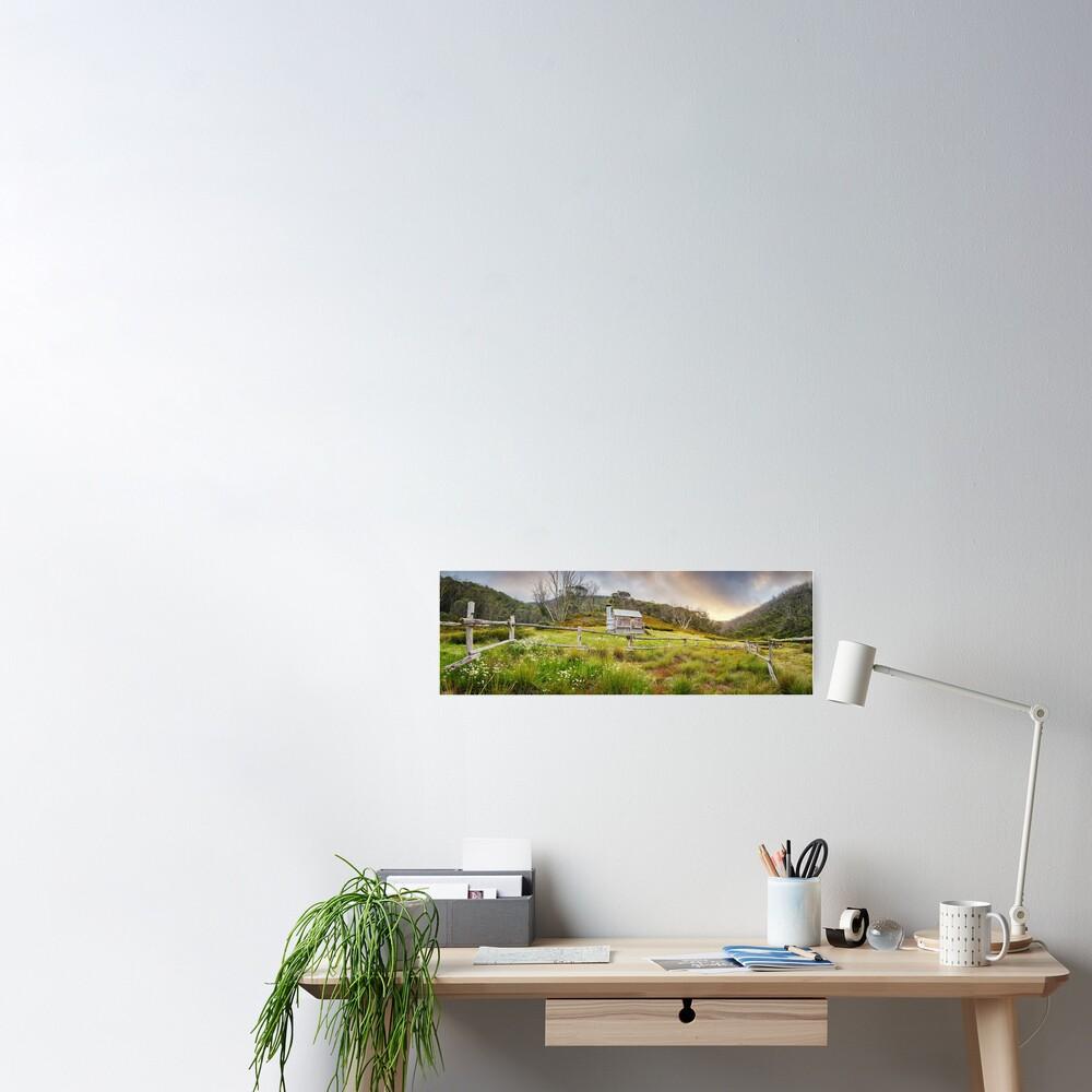 Silver Brumby Hut, Mt Hotham, Victoria, Australia Poster