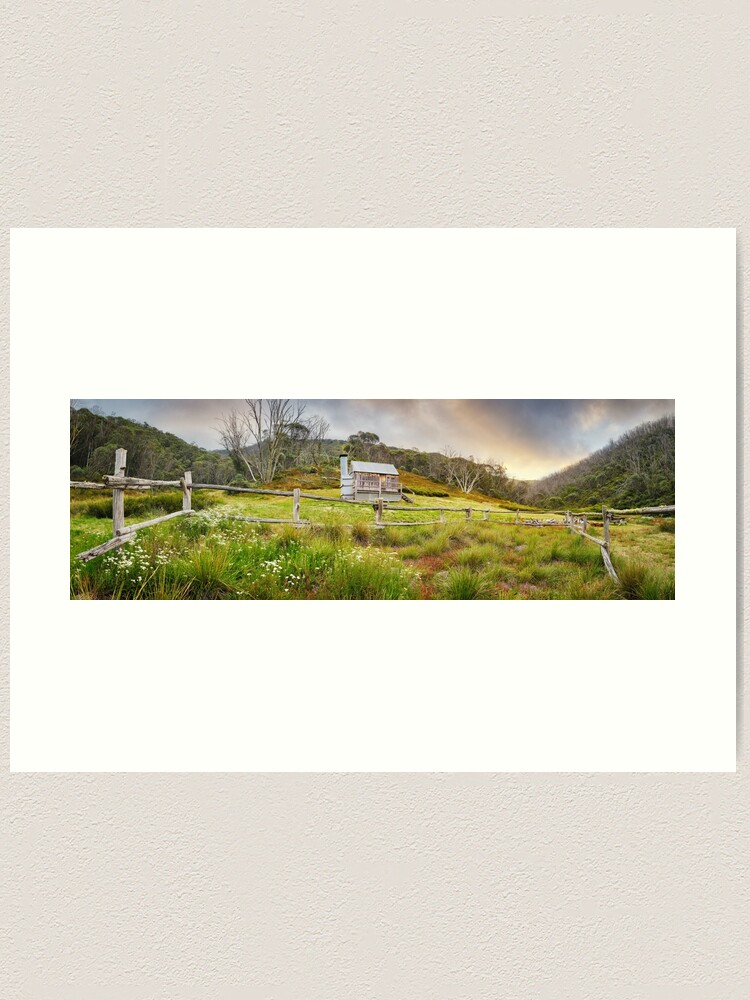 Alternate view of Silver Brumby Hut, Mt Hotham, Victoria, Australia Art Print