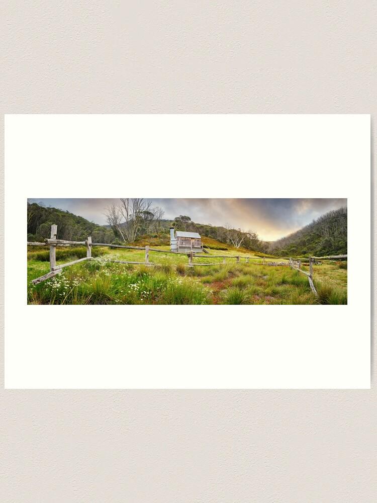 Alternate view of Silver Brumby Hut, Mt Hotham, Victoria, Australia Art Print