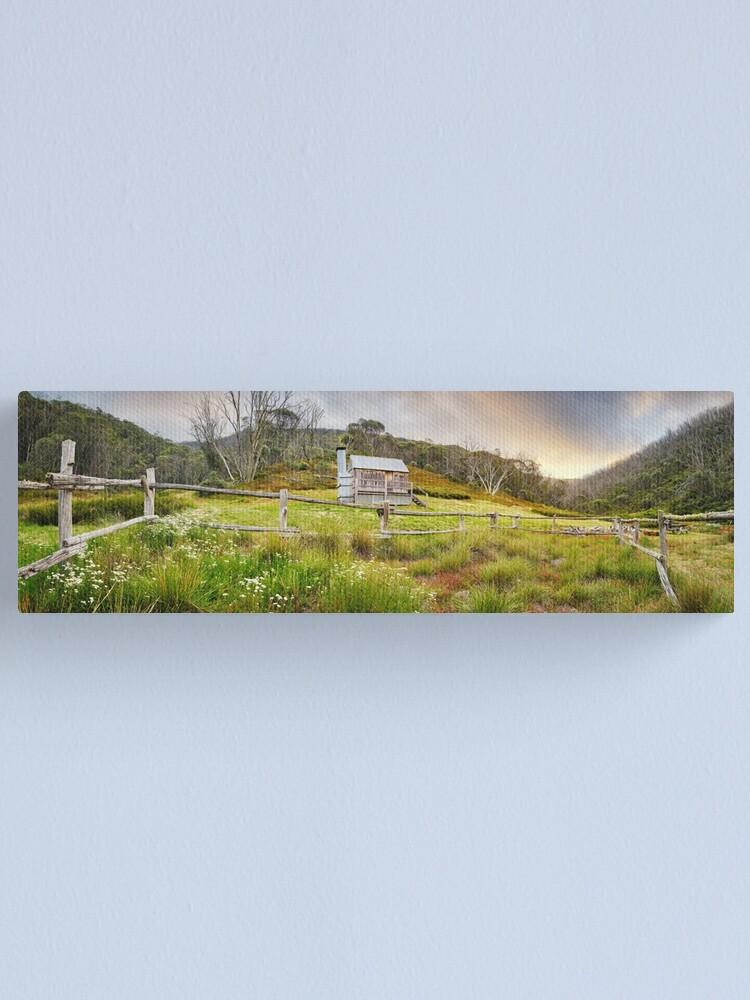 Alternate view of Silver Brumby Hut, Mt Hotham, Victoria, Australia Canvas Print