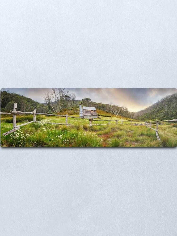 Alternate view of Silver Brumby Hut, Mt Hotham, Victoria, Australia Metal Print