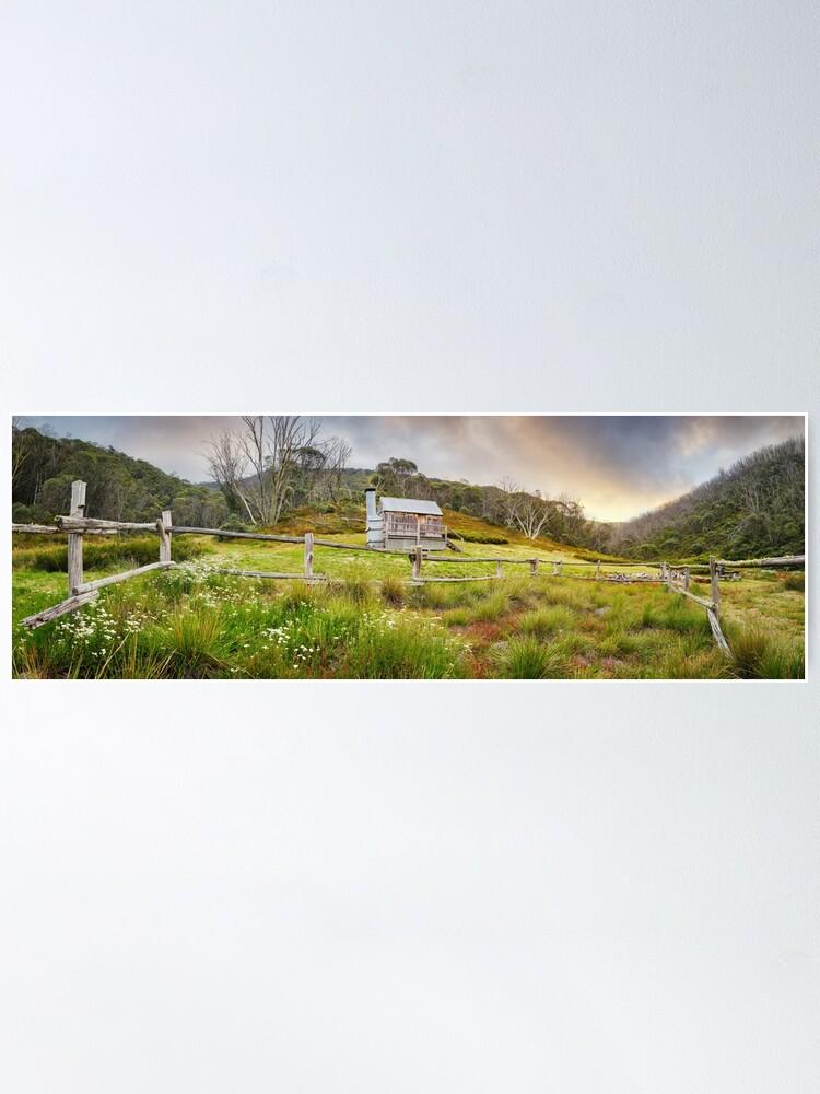 Alternate view of Silver Brumby Hut, Mt Hotham, Victoria, Australia Poster