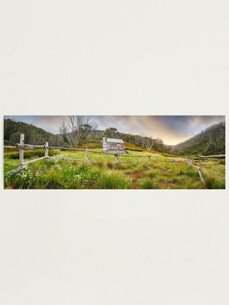 Alternate view of Silver Brumby Hut, Mt Hotham, Victoria, Australia Photographic Print