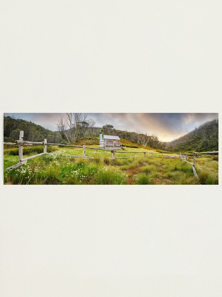 Alternate view of Silver Brumby Hut, Mt Hotham, Victoria, Australia Photographic Print