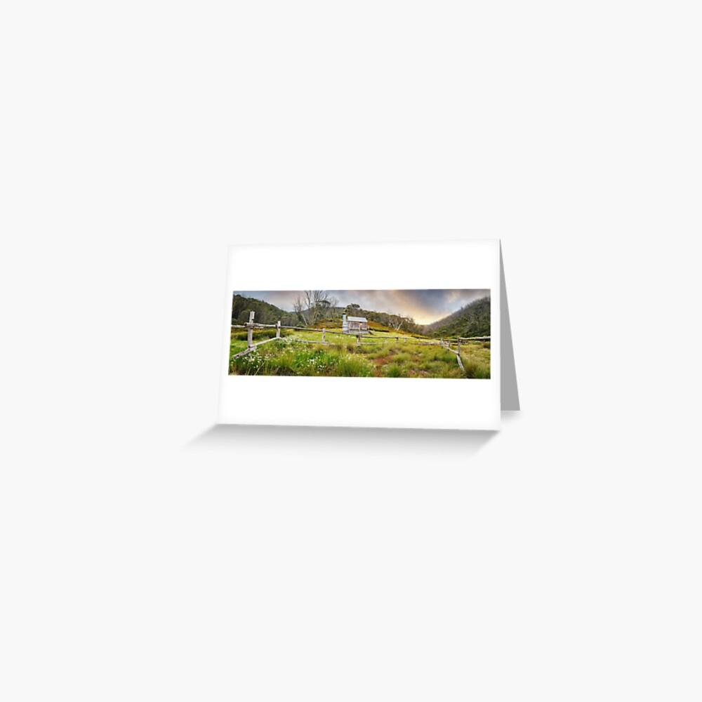 Silver Brumby Hut, Mt Hotham, Victoria, Australia Greeting Card
