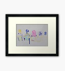 students sitting Framed Print