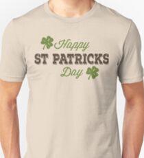 Happy St. Patricks Day Vintage Typography Design T-Shirt
