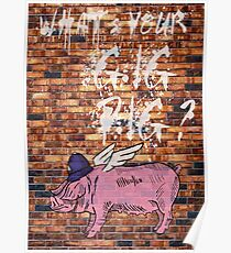 What's Your Gig Pig? - wall Poster