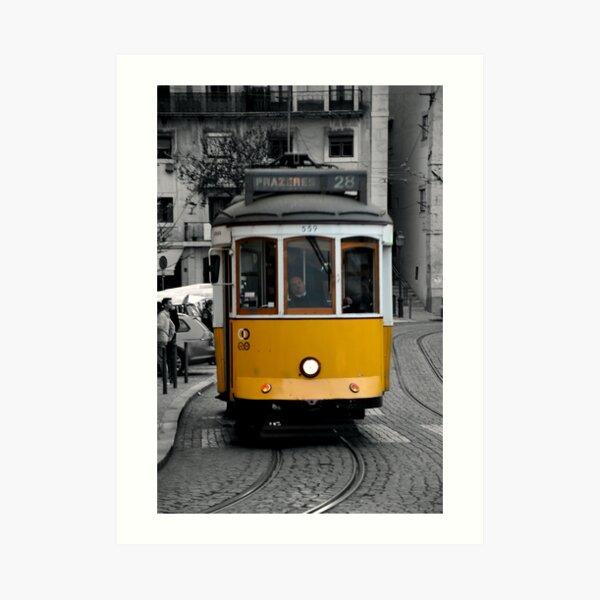 Tram 28 Lisbon Portugal Art Print