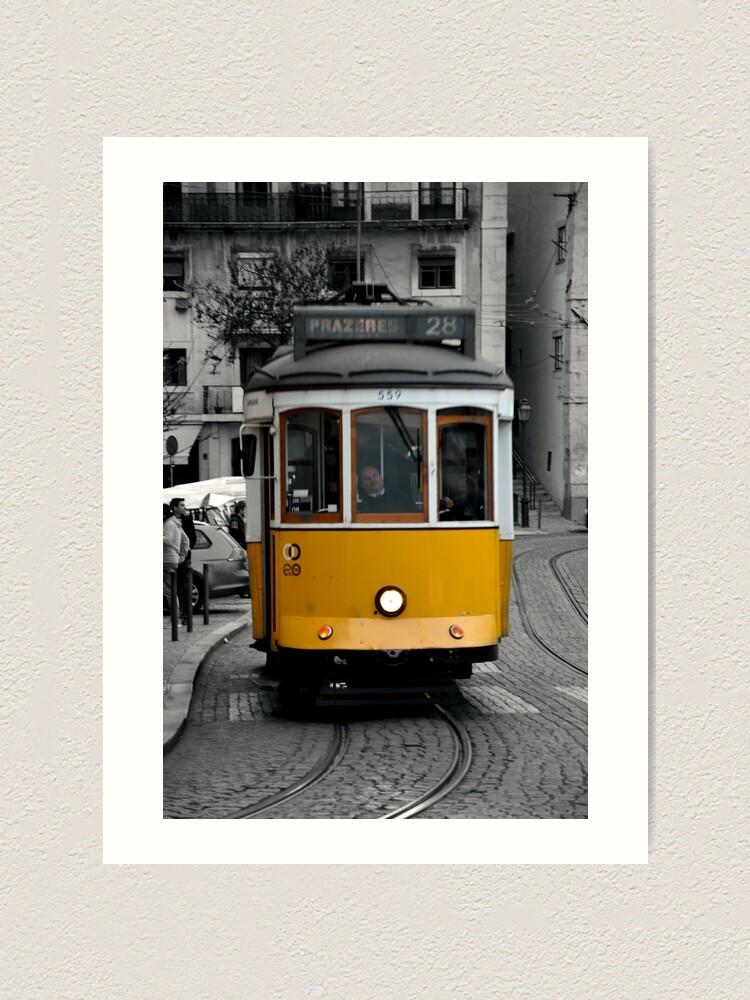 Alternate view of Tram 28 Lisbon Portugal Art Print