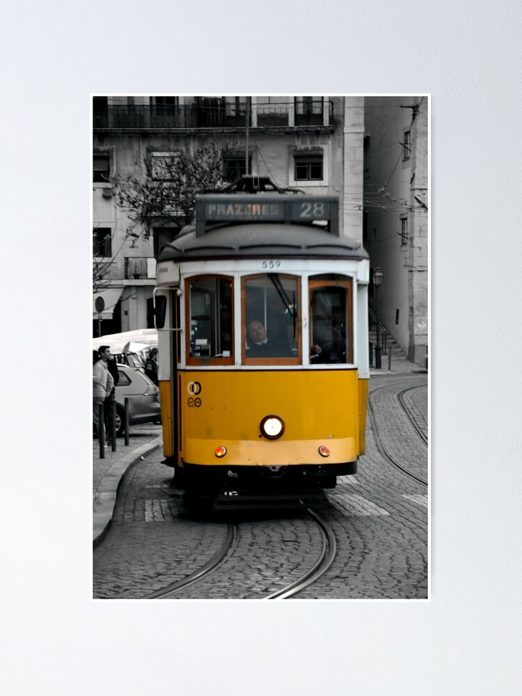 Alternate view of Tram 28 Lisbon Portugal Poster
