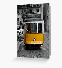 Tram 28 Lisbon Portugal Greeting Card