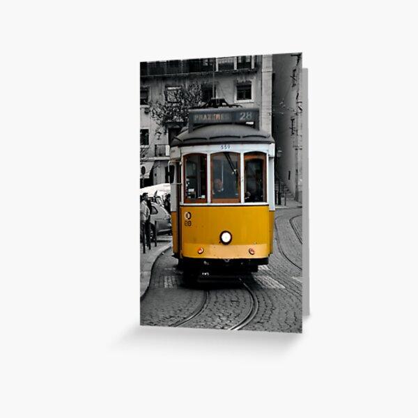 Tram 28 Lisbon Portugal Greeting Card
