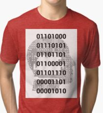 Binary Man - Human Code Tri-blend T-Shirt