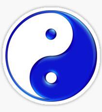 Yin & Yang Symbol in 'Electric Blue Paint' Sticker
