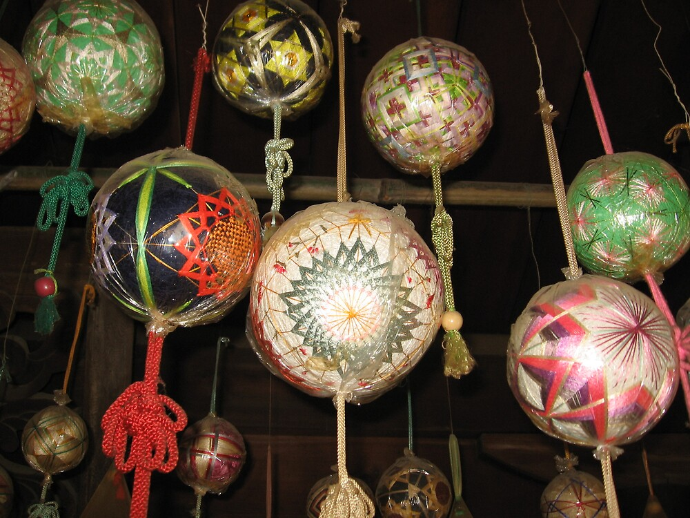 Temari Balls 7 - Ishiteji temple Matsuyama Ehime  by Trishy