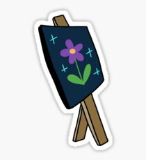 Easel with Painting Sticker