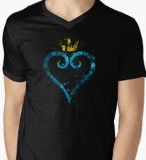Kingdom Hearts Splatter Men's V-Neck T-Shirt